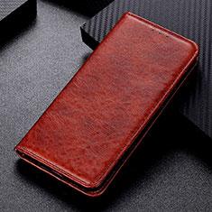Custodia Portafoglio In Pelle Cover con Supporto L02 per Nokia 5.3 Marrone