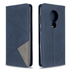 Custodia Portafoglio In Pelle Cover con Supporto L02 per Nokia 6.2 Blu