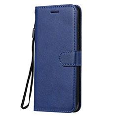 Custodia Portafoglio In Pelle Cover con Supporto L02 per Nokia 7.2 Blu