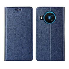 Custodia Portafoglio In Pelle Cover con Supporto L02 per Nokia 8.3 5G Blu