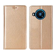 Custodia Portafoglio In Pelle Cover con Supporto L02 per Nokia 8.3 5G Oro