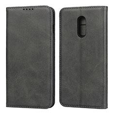 Custodia Portafoglio In Pelle Cover con Supporto L02 per OnePlus 7 Nero