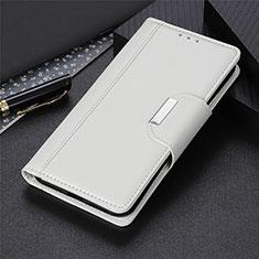Custodia Portafoglio In Pelle Cover con Supporto L02 per OnePlus Nord Bianco