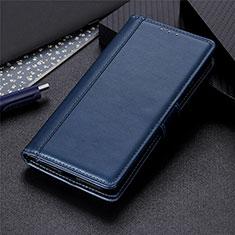 Custodia Portafoglio In Pelle Cover con Supporto L02 per Oppo A15 Blu