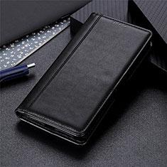 Custodia Portafoglio In Pelle Cover con Supporto L02 per Oppo A15 Nero