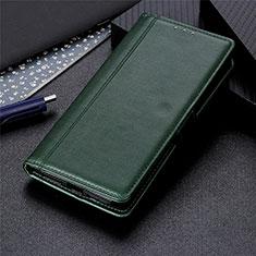 Custodia Portafoglio In Pelle Cover con Supporto L02 per Oppo A15 Verde