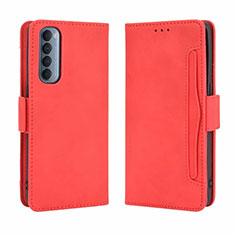Custodia Portafoglio In Pelle Cover con Supporto L02 per Oppo Reno4 Pro 4G Rosso