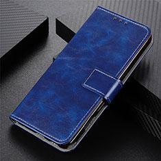 Custodia Portafoglio In Pelle Cover con Supporto L02 per Realme 5 Pro Blu