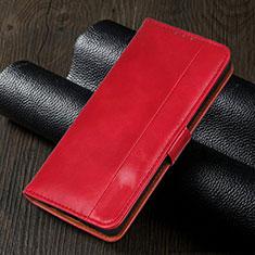 Custodia Portafoglio In Pelle Cover con Supporto L02 per Realme 5i Rosso