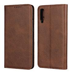 Custodia Portafoglio In Pelle Cover con Supporto L02 per Samsung Galaxy A30S Marrone