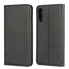 Custodia Portafoglio In Pelle Cover con Supporto L02 per Samsung Galaxy A30S Nero