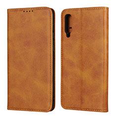 Custodia Portafoglio In Pelle Cover con Supporto L02 per Samsung Galaxy A50 Arancione