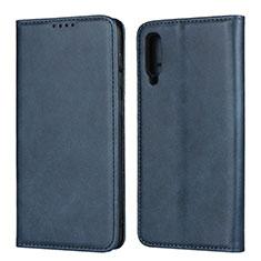 Custodia Portafoglio In Pelle Cover con Supporto L02 per Samsung Galaxy A50 Blu