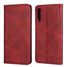 Custodia Portafoglio In Pelle Cover con Supporto L02 per Samsung Galaxy A50 Rosso