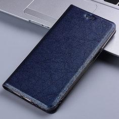 Custodia Portafoglio In Pelle Cover con Supporto L02 per Samsung Galaxy A81 Blu