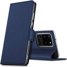 Custodia Portafoglio In Pelle Cover con Supporto L02 per Samsung Galaxy S20 Ultra 5G Blu