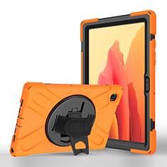 Custodia Portafoglio In Pelle Cover con Supporto L02 per Samsung Galaxy Tab A7 4G 10.4 SM-T505 Arancione