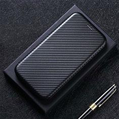 Custodia Portafoglio In Pelle Cover con Supporto L02 per Sharp AQUOS Sense4 Plus Nero