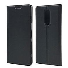 Custodia Portafoglio In Pelle Cover con Supporto L02 per Sony Xperia 1 Nero