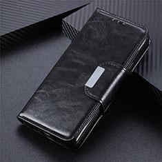 Custodia Portafoglio In Pelle Cover con Supporto L02 per Sony Xperia 5 II Nero