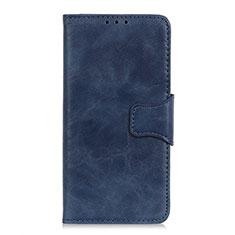 Custodia Portafoglio In Pelle Cover con Supporto L02 per Sony Xperia 8 Blu