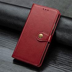 Custodia Portafoglio In Pelle Cover con Supporto L02 per Sony Xperia L4 Rosso
