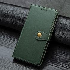 Custodia Portafoglio In Pelle Cover con Supporto L02 per Sony Xperia L4 Verde