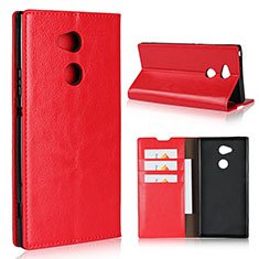 Custodia Portafoglio In Pelle Cover con Supporto L02 per Sony Xperia XA2 Ultra Rosso