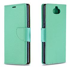 Custodia Portafoglio In Pelle Cover con Supporto L02 per Sony Xperia XA3 Verde