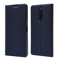 Custodia Portafoglio In Pelle Cover con Supporto L02 per Sony Xperia XZ4 Blu