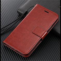 Custodia Portafoglio In Pelle Cover con Supporto L02 per Vivo S1 Pro Marrone