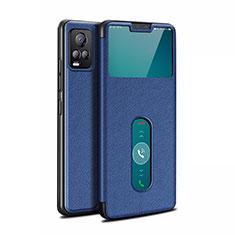 Custodia Portafoglio In Pelle Cover con Supporto L02 per Vivo V20 Pro 5G Blu