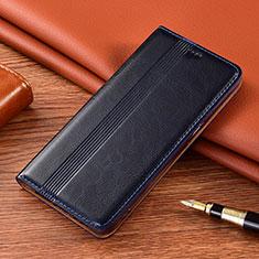 Custodia Portafoglio In Pelle Cover con Supporto L02 per Vivo X50e 5G Blu Notte