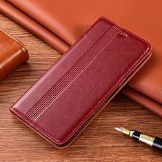 Custodia Portafoglio In Pelle Cover con Supporto L02 per Vivo X50e 5G Rosso Rosa
