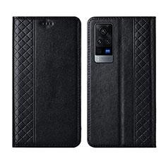 Custodia Portafoglio In Pelle Cover con Supporto L02 per Vivo X60 Pro 5G Nero