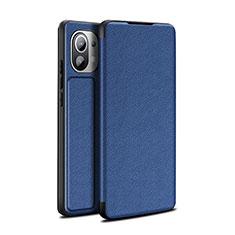Custodia Portafoglio In Pelle Cover con Supporto L02 per Xiaomi Mi 11 5G Blu