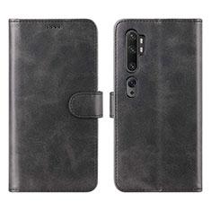 Custodia Portafoglio In Pelle Cover con Supporto L02 per Xiaomi Mi Note 10 Nero