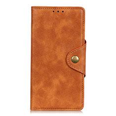 Custodia Portafoglio In Pelle Cover con Supporto L02 per Xiaomi Redmi Note 9 Pro Arancione