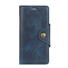 Custodia Portafoglio In Pelle Cover con Supporto L03 per Alcatel 1 Blu