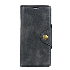 Custodia Portafoglio In Pelle Cover con Supporto L03 per Alcatel 1 Nero