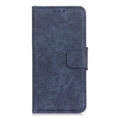 Custodia Portafoglio In Pelle Cover con Supporto L03 per Alcatel 3L Blu