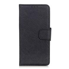 Custodia Portafoglio In Pelle Cover con Supporto L03 per Alcatel 3L Nero