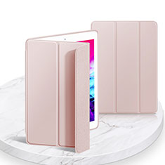 Custodia Portafoglio In Pelle Cover con Supporto L03 per Apple iPad 10.2 (2020) Rosa