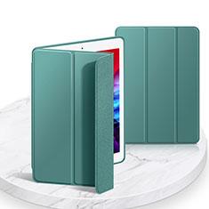 Custodia Portafoglio In Pelle Cover con Supporto L03 per Apple iPad 10.2 (2020) Verde Notte