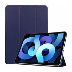 Custodia Portafoglio In Pelle Cover con Supporto L03 per Apple iPad Air 4 10.9 (2020) Blu Notte