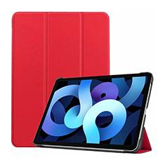 Custodia Portafoglio In Pelle Cover con Supporto L03 per Apple iPad Air 4 10.9 (2020) Rosso