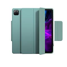 Custodia Portafoglio In Pelle Cover con Supporto L03 per Apple iPad Pro 12.9 (2020) Verde