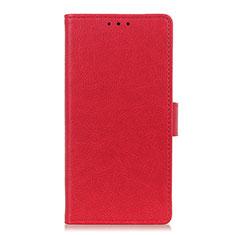 Custodia Portafoglio In Pelle Cover con Supporto L03 per Apple iPhone 12 Max Rosso