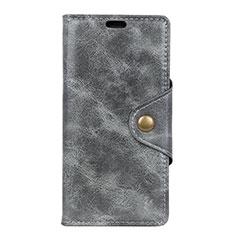 Custodia Portafoglio In Pelle Cover con Supporto L03 per Asus Zenfone 5 Lite ZC600KL Grigio