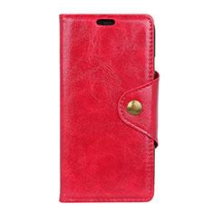 Custodia Portafoglio In Pelle Cover con Supporto L03 per Asus Zenfone 5 Lite ZC600KL Rosso